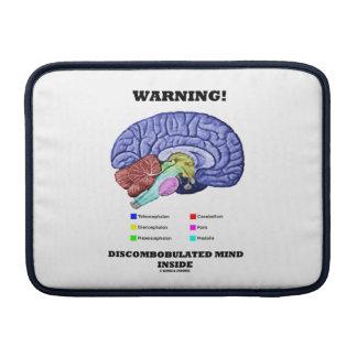 Warning! Discombobulated Mind Inside (Brain Humor) Sleeve For MacBook Air