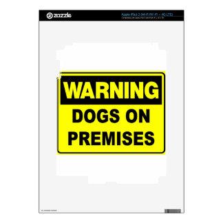 Warning Dogs On Premises iPad 3 Decal