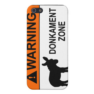 Warning: Donkament Zone iPhone 5 Cover