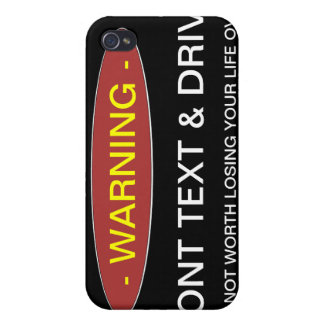 Warning Dont Text & Drive Cae iPhone 4/4S Cover