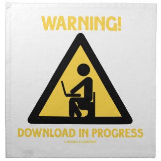 Warning! Download In Progress Geek Humor Signage Napkin