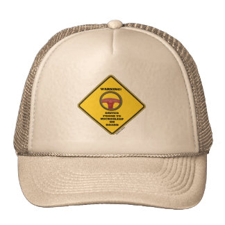 Warning! Driver Prone To Microsleep On Board Sign Hats