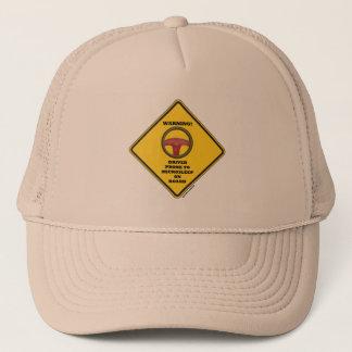 Warning! Driver Prone To Microsleep On Board Sign Trucker Hat