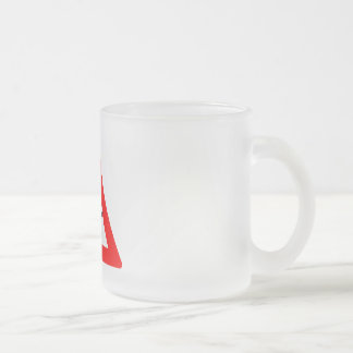WARNING DRONE FLY ZONE FROSTED GLASS COFFEE MUG