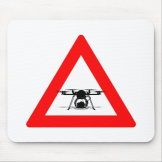 WARNING DRONE FLY ZONE MOUSE PAD
