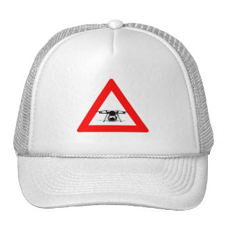 WARNING DRONE FLY ZONE TRUCKER HAT