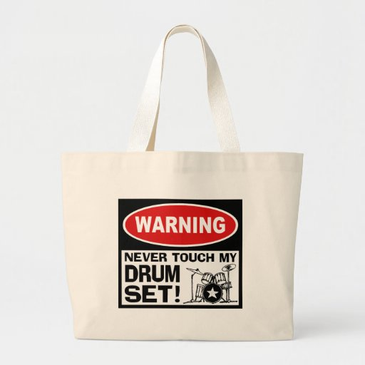 WARNING - DRUMS CANVAS BAGS