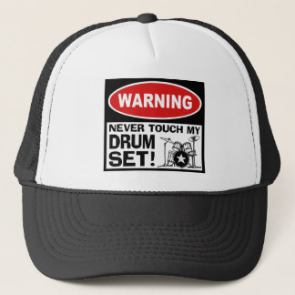 WARNING - DRUMS TRUCKER HAT