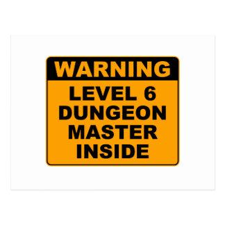 Warning, Dungeon Master Inside Postcard