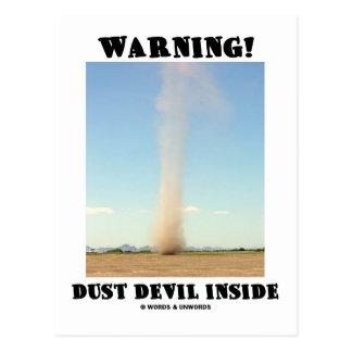 Warning! Dust Devil Inside (Meteorology) Postcards