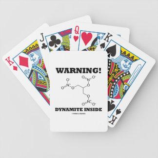 Warning! Dynamite Inside Nitroglycerin Molecule Bicycle Playing Cards