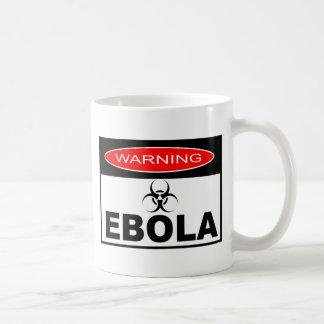 WARNING EBOLA CLASSIC WHITE COFFEE MUG