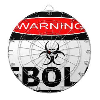 WARNING EBOLA DARTBOARD