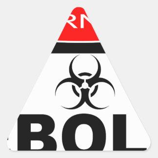 WARNING EBOLA TRIANGLE STICKER