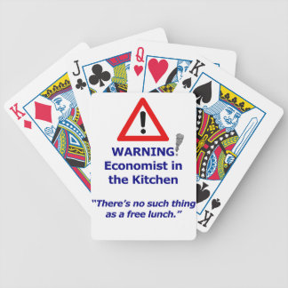 Warning: Economist in the Kitchen! Bicycle Playing Cards