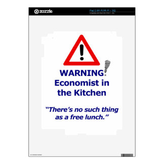Warning: Economist in the Kitchen! Decals For The iPad 2