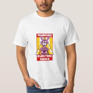 Warning electric shock t shirt