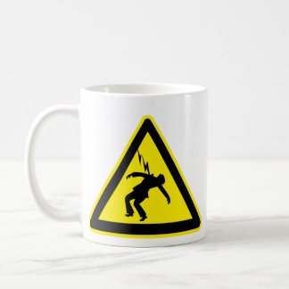 Warning: Electrocution Risk - mug