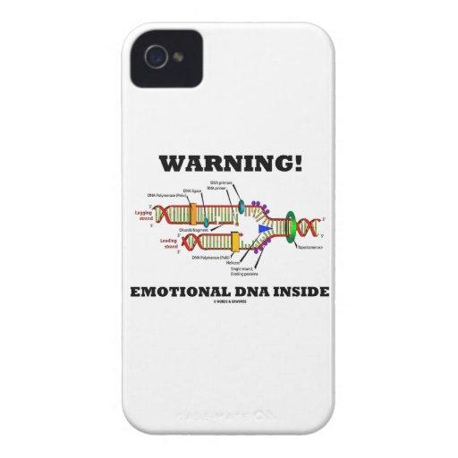 Warning! Emotional DNA Inside (DNA Replication) iPhone 4 Case