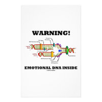 Warning! Emotional DNA Inside (DNA Replication) Stationery
