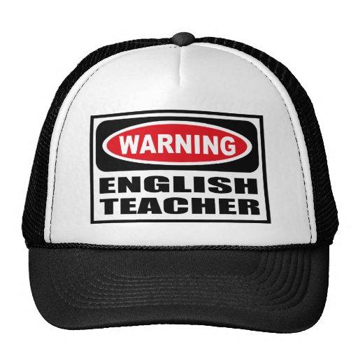 Warning ENGLISH TEACHER Hat