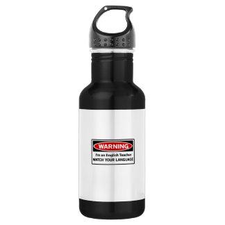 Warning English Teacher Stainless Steel Water Bottle