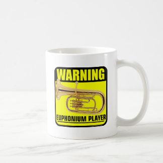 Warning! Euphonium Player Classic White Coffee Mug