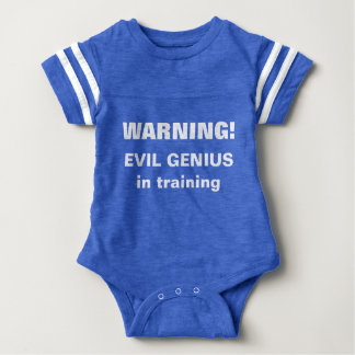 Warning! Evil Genius in training Baby Bodysuit