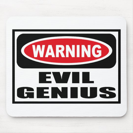 Warning EVIL GENIUS Mousepad
