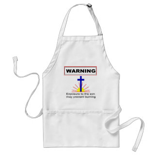 WARNING, Exposure to the son may prevent burning Adult Apron