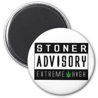 Warning Extreme High 2 Inch Round Magnet