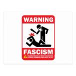 Warning! Facism Postcard