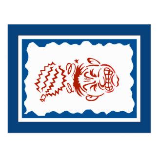 Warning Falling Durian Sign, Thailand Postcard
