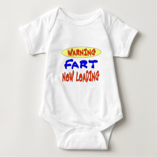 WARNING FART NOW LOADING BABY BODYSUIT