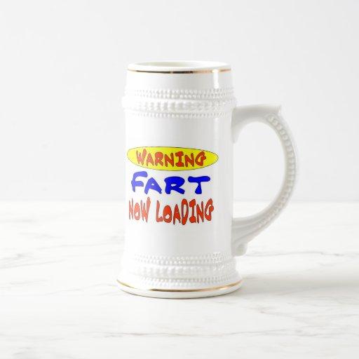 WARNING FART NOW LOADING COFFEE MUG