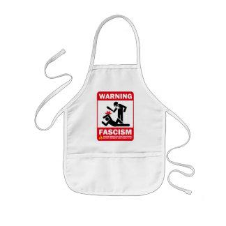 Warning Fascism Apron
