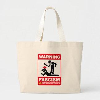 Warning: Fascism Jumbo Tote Bag