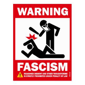 Warning: Fascism Postcard
