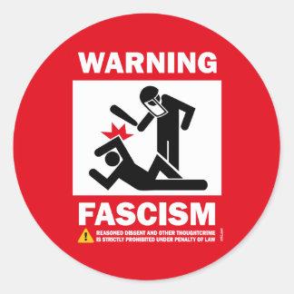 Warning Fascism Stickers
