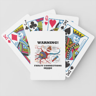 Warning! Faulty Connections Inside Neuron Synapse Bicycle Playing Cards
