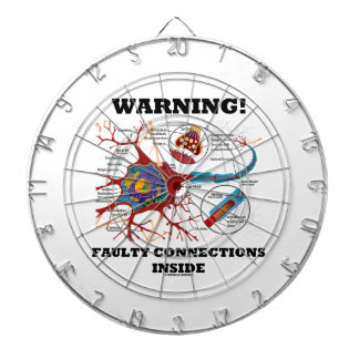 Warning! Faulty Connections Inside Neuron Synapse Dartboard With Darts