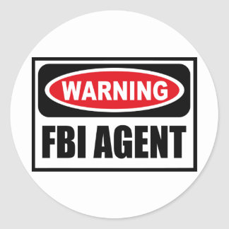 Warning FBI AGENT Sticker