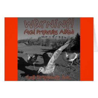 Warning!  Fecal Projectiles Ahead! Card