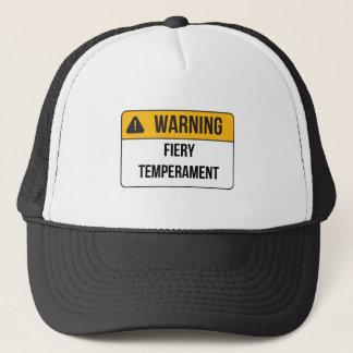 Warning - Fiery Temperament Trucker Hat