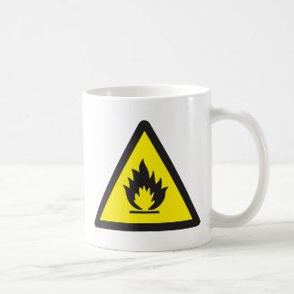 Warning Flammable Sign Coffee Mug