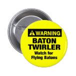 Warning Flying Batons Pins