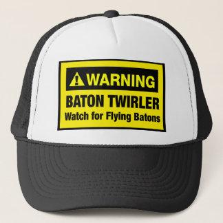 Warning Flying Batons Trucker Hat