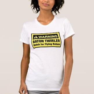 Warning Flying Batons Tee Shirt