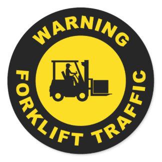 Warning Forklift Tractor Sticker Safety Sticker