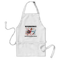 Warning! Frazzled Nerves Inside (Neuron / Synapse) Adult Apron